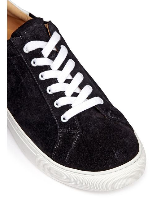 how to clean black suede tennis shoes