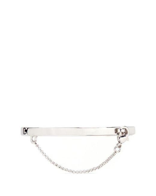 Eddie Borgo   Metallic 'extra Thin Safety Chain' Silver Plated Bracelet   Lyst