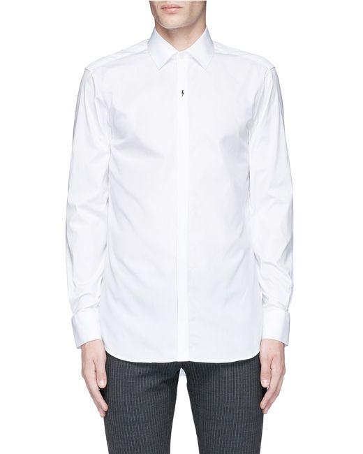Neil barrett thunderbolt pin tuxedo shirt in multicolor for Neil barrett tuxedo shirt
