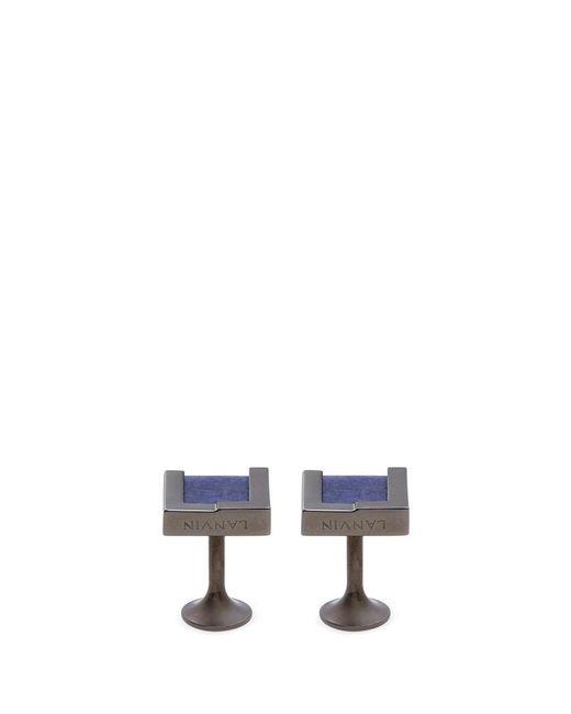 Lanvin | Metallic Interchangeable Rectangle Gemstone Cufflinks for Men | Lyst