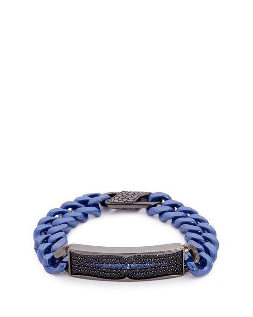 Stephen Webster   Metallic 'rayman' Sapphire Rhodium Silver Ceramic Chain Bracelet   Lyst