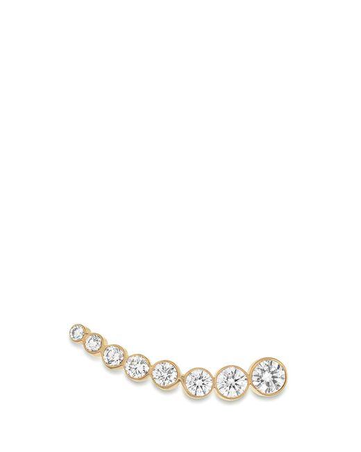 Sophie Bille Brahe   Metallic 'croissant De Lune' Diamond 18k Yellow Gold Single Earring   Lyst