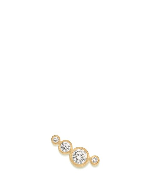 Sophie Bille Brahe | Metallic 'flacon Diamant' Diamond 18k Yellow Gold Single Earring | Lyst