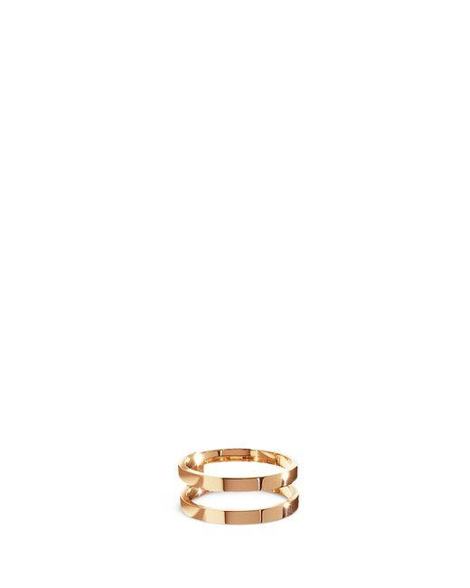 Repossi | Metallic 'berbère' 18k Rose Gold Two Row Ring | Lyst