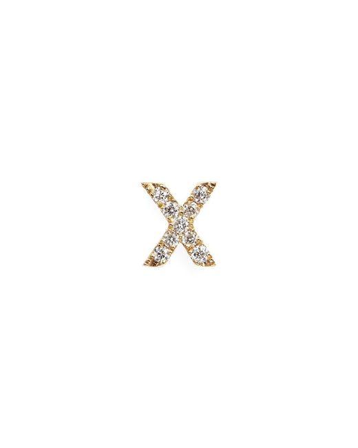 Loquet London | Metallic Diamond 18k Yellow Gold Letter Charm – X | Lyst
