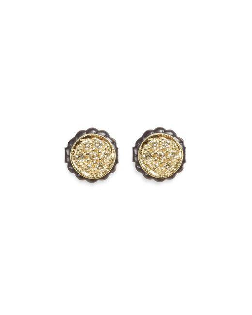 Ila & I - Metallic 'petite Zahia' Diamond 14k Gold Round Stud Earrings - Lyst