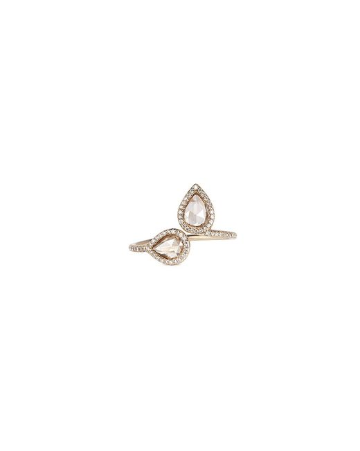 Monique Péan - Metallic 'atelier North-south' Diamond 18k White Gold Open Ring - Lyst