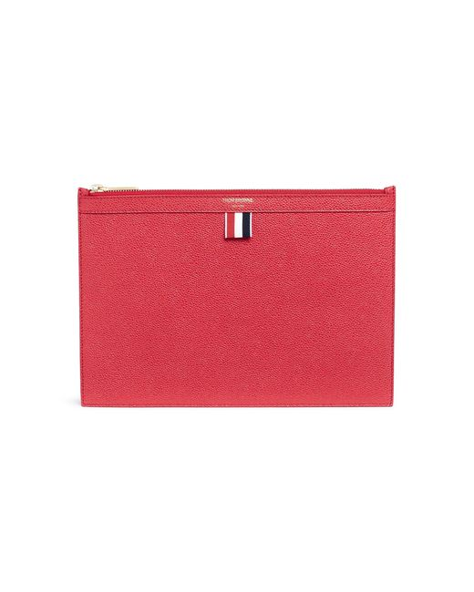 Thom Browne - Red Pebble Grain Leather Tablet Holder - Lyst