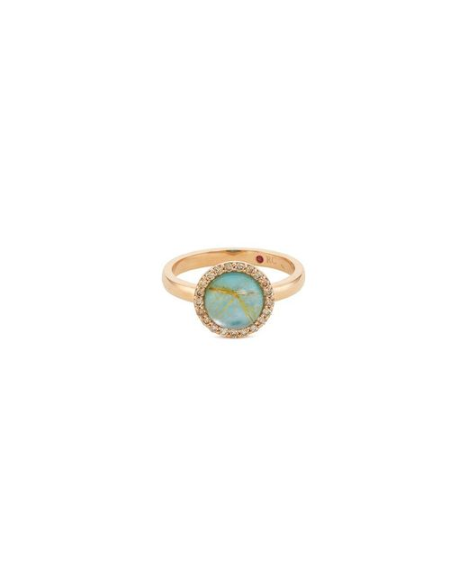 Roberto Coin - Metallic 'cocktail' Diamond Agate Chalcedony 18k Rose Gold Ring - Lyst