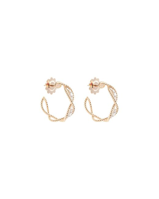 Roberto Coin - Metallic 'new Barocco' Diamond 18k Rose Gold Hoop Earrings - Lyst