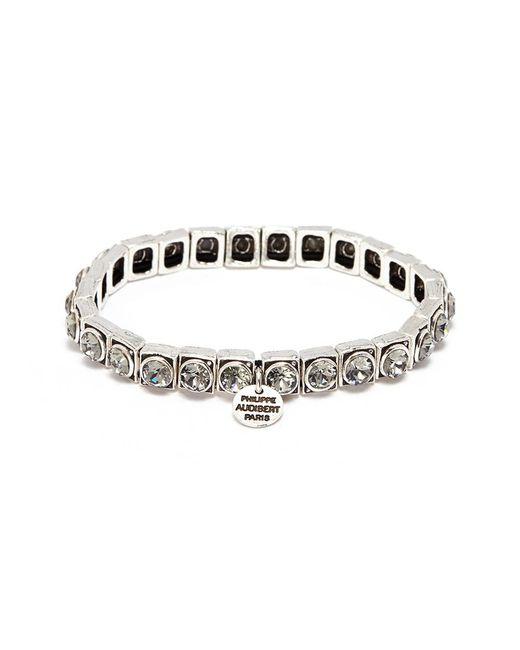 Philippe Audibert - Metallic 'jeanne' Swarovski Crystal Elastic Bracelet - Lyst