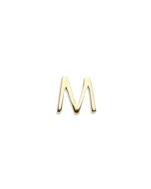 Loquet London | Metallic 18k Yellow Gold Letter Charm - M | Lyst