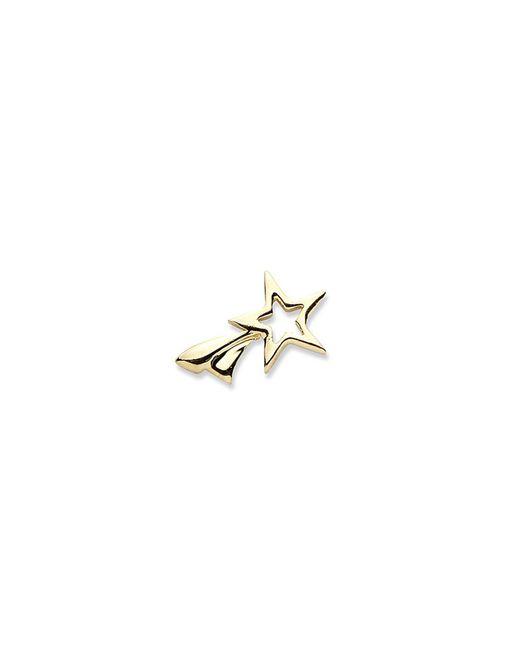 Loquet London - Metallic 14k Yellow Gold Shooting Star Single Earring - Make A Wish - Lyst