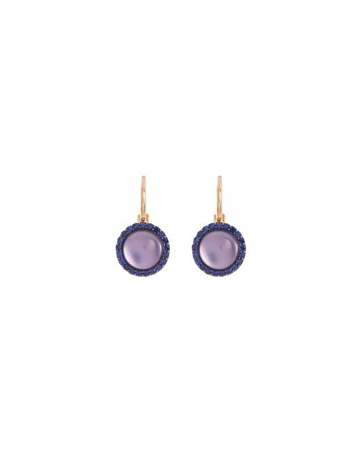 Roberto Coin - Multicolor 'cocktail' Amethyst Quartz Sapphire 18k Rose Gold Earrings - Lyst
