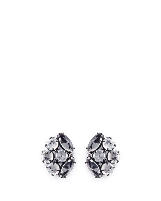 Lulu Frost   White 'diamanda' Glass Crystal Cluster Stud Earrings   Lyst