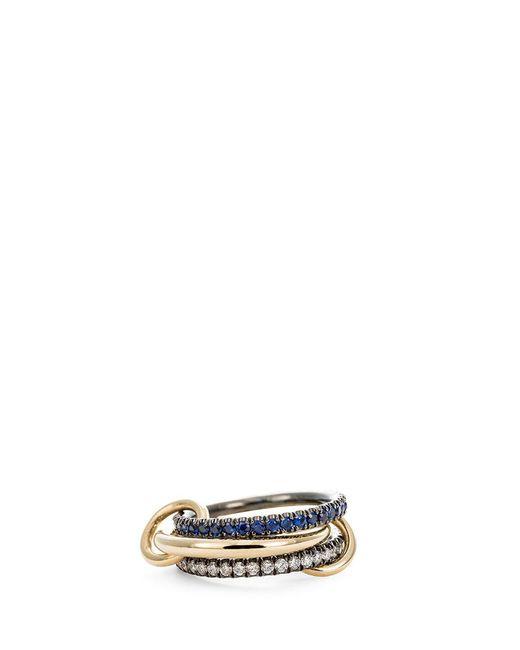 Spinelli Kilcollin | Metallic 'celeste Sapphire' Diamond And Sapphire 18k Gold Ring | Lyst