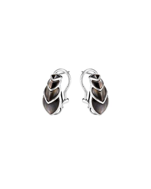John Hardy - Metallic 'legends Naga Buddha Belly' Mother Of Pearl Silver Earrings - Lyst