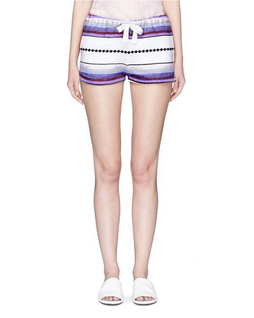 Lemlem   Purple 'adia' Stripe Drawstring Shorts   Lyst