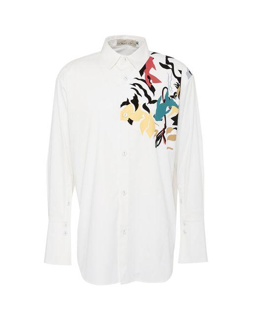 Angel Chen - White Tiger Graphic Print Unisex Shirt for Men - Lyst