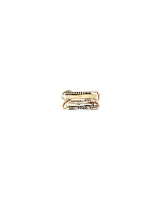 Spinelli Kilcollin - Metallic 'nexus' Diamond 18k Gold Five Link Ring - Lyst