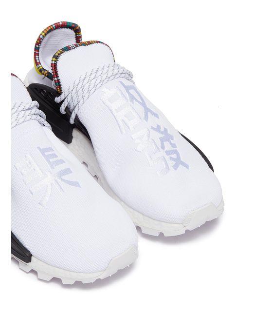 1dab02ab0535f ... Lyst Adidas Originals - White  solarhu Nmd  Slogan Embroidered  Primeknit Sneakers for Men ...