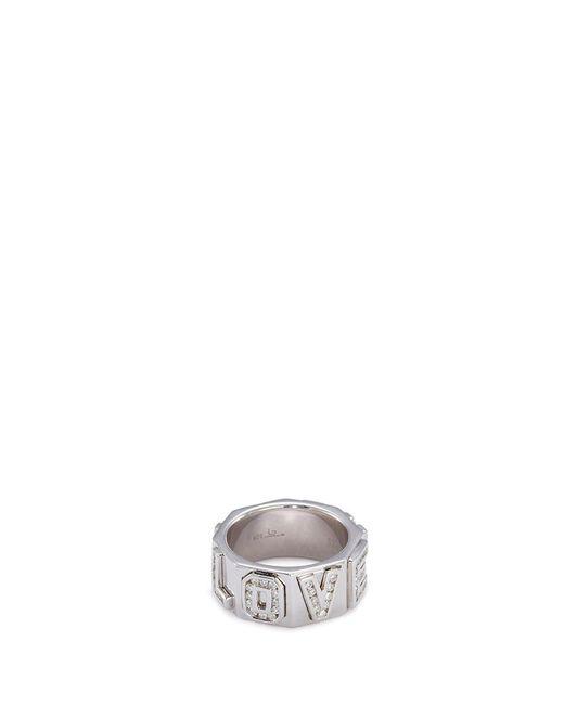 Lynn Ban - Metallic 'i Love You' Diamond Silver Ring - Lyst