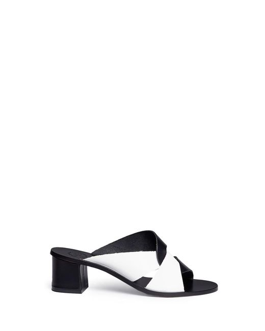 Atp Atelier - Black 'adria' Knot Strap Leather Mules - Lyst