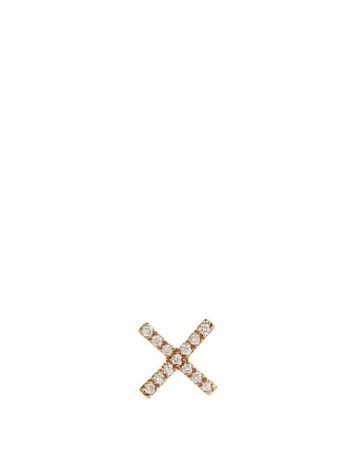 Loquet London - Metallic 'x' Diamond 14k Yellow Gold Single Stud Earring – Send A Kiss - Lyst