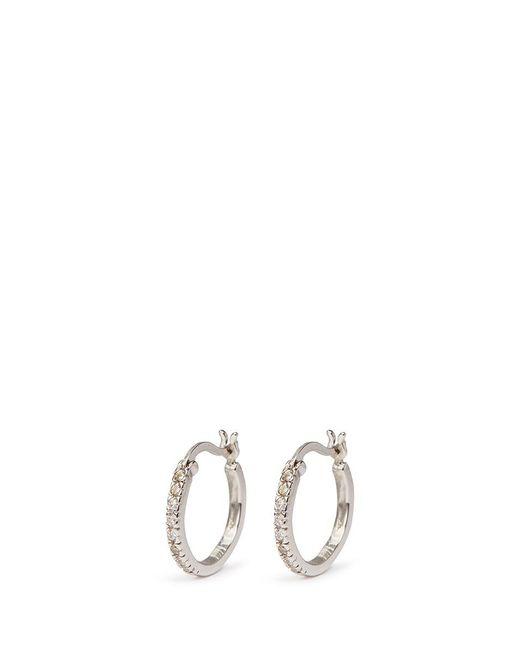 CZ by Kenneth Jay Lane | Metallic Cubic Zirconia Pavé Hoop Earrings | Lyst