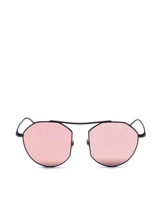 Stephane + Christian | Multicolor 'daydream' Metal Angular Mirror Sunglasses | Lyst