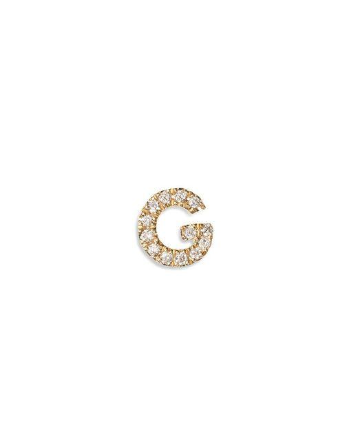 Loquet London Pink Diamond 18k Yellow Gold Letter Charm - G