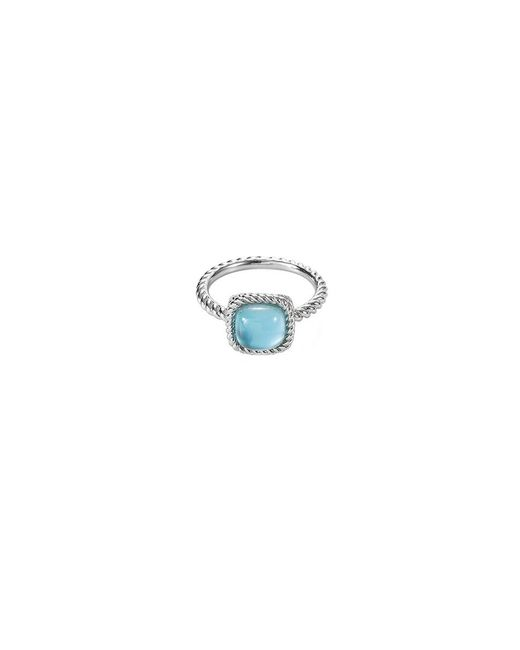 Roberto Coin - Blue 'new Barocco' Gemstone 18k White Gold Ring - Lyst