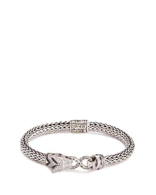 John Hardy - Metallic Diamond Topaz Silver Macan Bracelet - Lyst