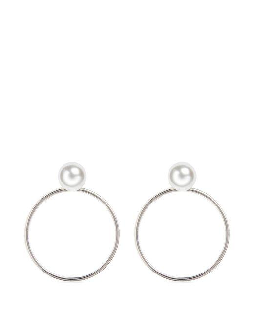 Joomi Lim   Metallic Swarovski Pearl Detachable Hoop Earrings   Lyst