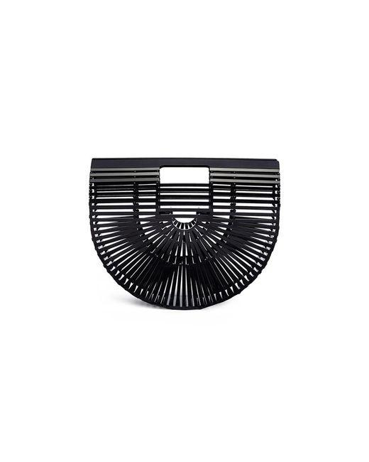 Cult Gaia - Black 'acrylic Ark' Small Caged Saddle Bag - Lyst