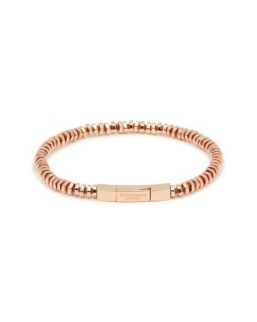 Tateossian - Metallic 'mini Click' Rose Gold Silver Disc Bead Bracelet for Men - Lyst