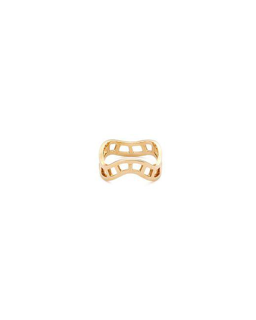 Sophie Bille Brahe - Metallic 'la Échelle' 18k Yellow Gold Cutout Wavy Ring for Men - Lyst