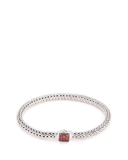 John Hardy - Metallic Sapphire Silver Woven Chain Hook Bracelet - Lyst