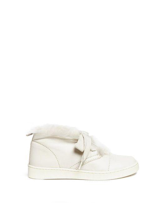Pedro Garcia | White 'parley' Lambskin Shearling Sneaker Chukka Boots | Lyst