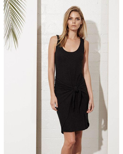 Lanston | Black Tie Front Dress | Lyst