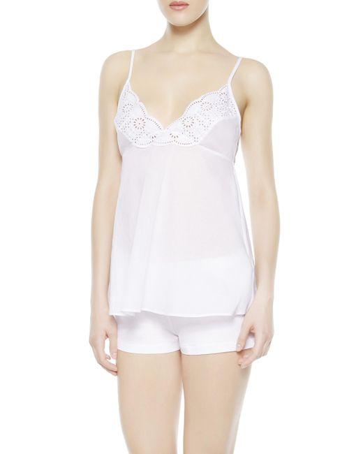La Perla   White Vest Top And Shorts Pyjama Set   Lyst