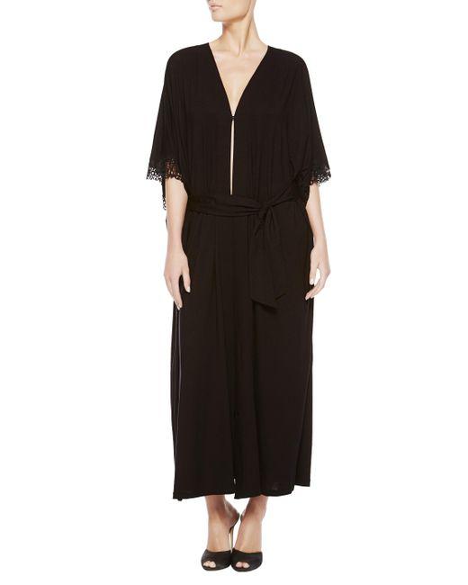 La Perla | Black Long Night Robe | Lyst