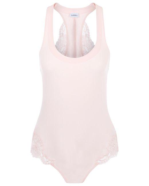 La Perla | Pink Wide-shouldered Bodysuit | Lyst