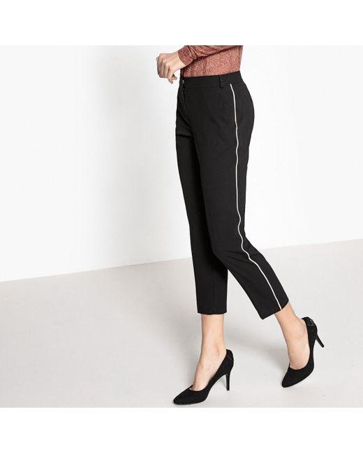 LA REDOUTE | Black 7/8 Straight Trousers | Lyst