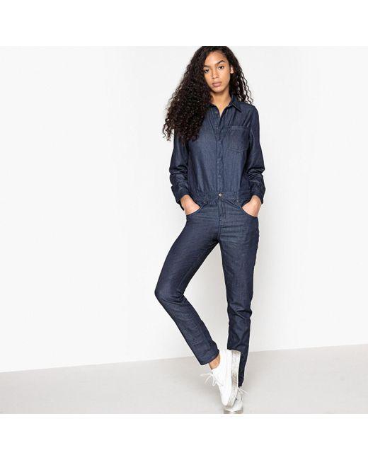 LA REDOUTE | Blue Denim Jumpsuit | Lyst