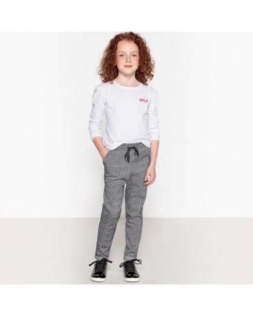 a9c61071b4b1a ... LA REDOUTE - Gray Checked Flannelette Leggings, 3-12 Years - Lyst ...