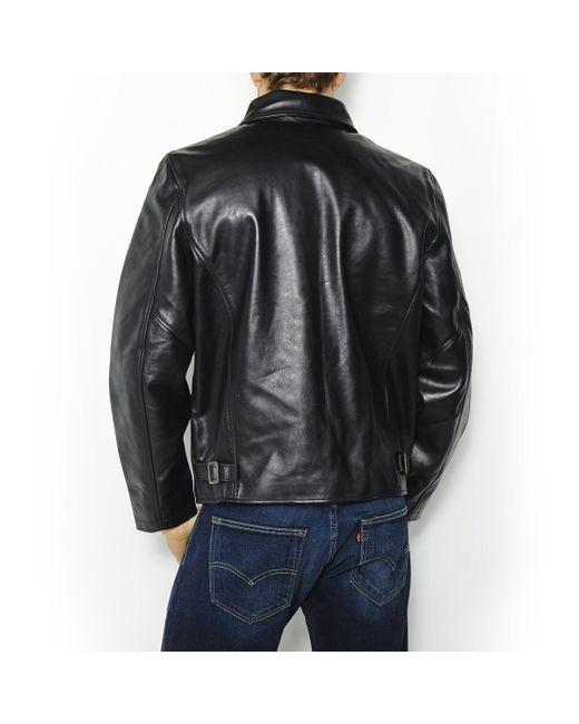 schott nyc lc 5100 leather bomber jacket in black for men lyst. Black Bedroom Furniture Sets. Home Design Ideas