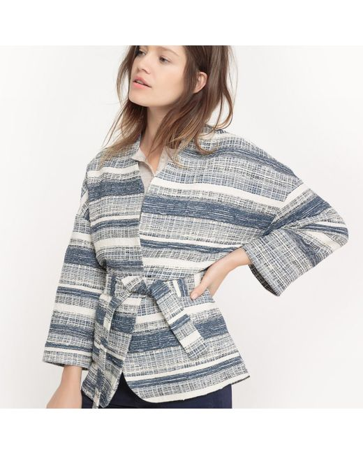 LA REDOUTE   Blue Jacquard Printed Kimono Jacket   Lyst