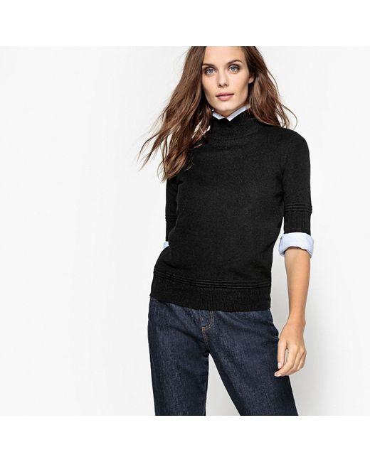 LA REDOUTE | Black Pure Cashmere Roll Neck Jumper/sweater | Lyst