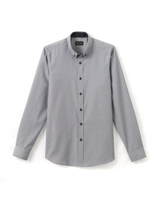LA REDOUTE | Blue Printed Slim Fit Shirt for Men | Lyst